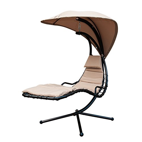 Sunlife Porch Swing Patio Hanging Chaise Sling Hammock
