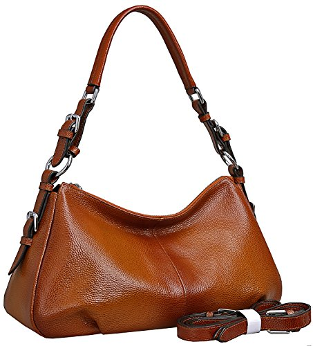 b2cea5a092ef Heshe Womens Leather Handbags Vintage Shoulder Bags Top Handle ...