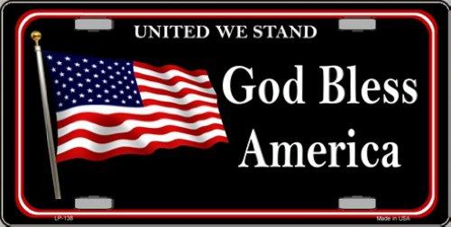 God Bless America Eagle And Flag Design Novelty Vanity