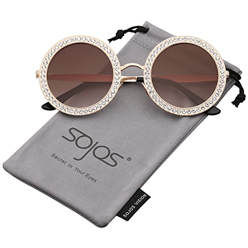 20986f6ff FEISEDY Women Sparkling Crystal Sunglasses Oversized Square Thick ...